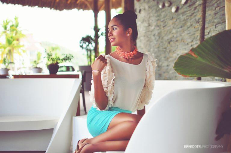 Sesion de fotos de quinceañera a Tairis en Samana Republica Dominicana