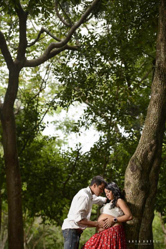 fotografo dominicano de embarazadas en el jardín botánico de santo domingo