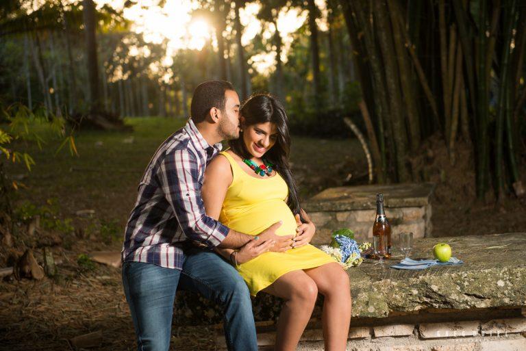Sesión de fotos de embaraza en el Jardin Botanico de Santo Domingo, República Dominicana