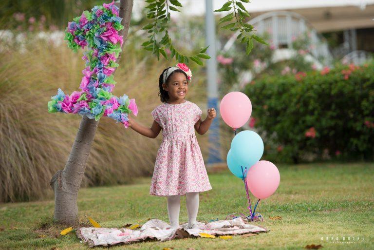 Sesión de fotos celebrando el cumpleaños de las niñas de Jennifer en parque Mirador Sur de Santo Domingo, Republica Dominicana