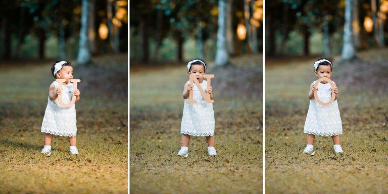 Sesión de fotos de niños por motivos de cumpleaños en el jardin botanico de Santo Domingo