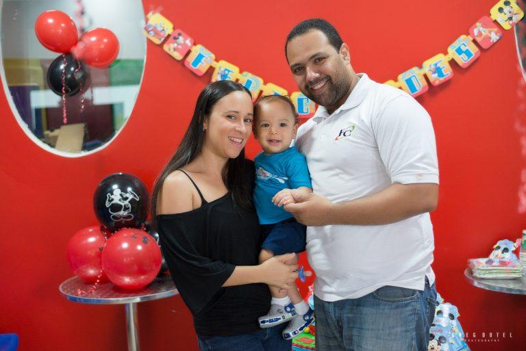 Sesion de fotos en el cumpleaños de Sebastian en el colegio en Santo Domingo