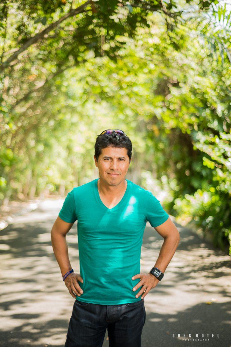 Fotografías del corredor mexicano German Silva en el Jardín Bótanico de Santo Domingo en República Dominicana