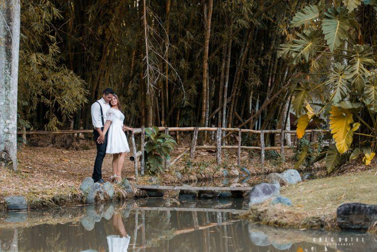 Sesión de fotos de novios para bodas en el jardín botánico de Santo Domingo, República Dominicana