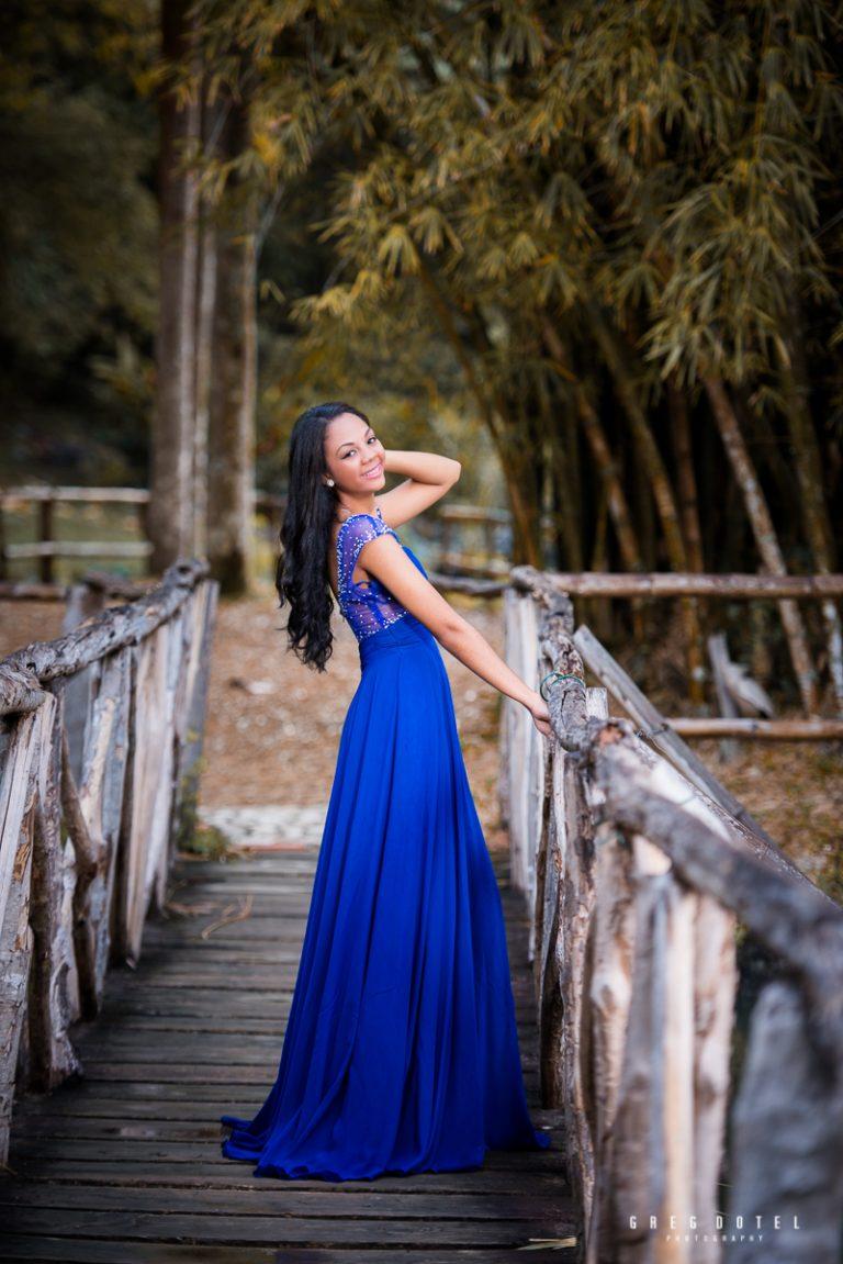 Quinceañera Daiana en el Jardín Botánico de Santo Domingo
