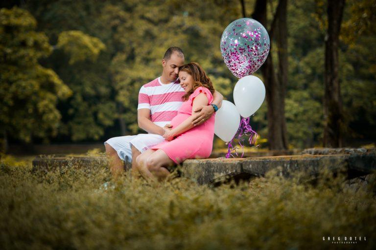 Sesion de fotos de embarazada en el parque mirador norte de Santo Domingo, Republica Dominicana