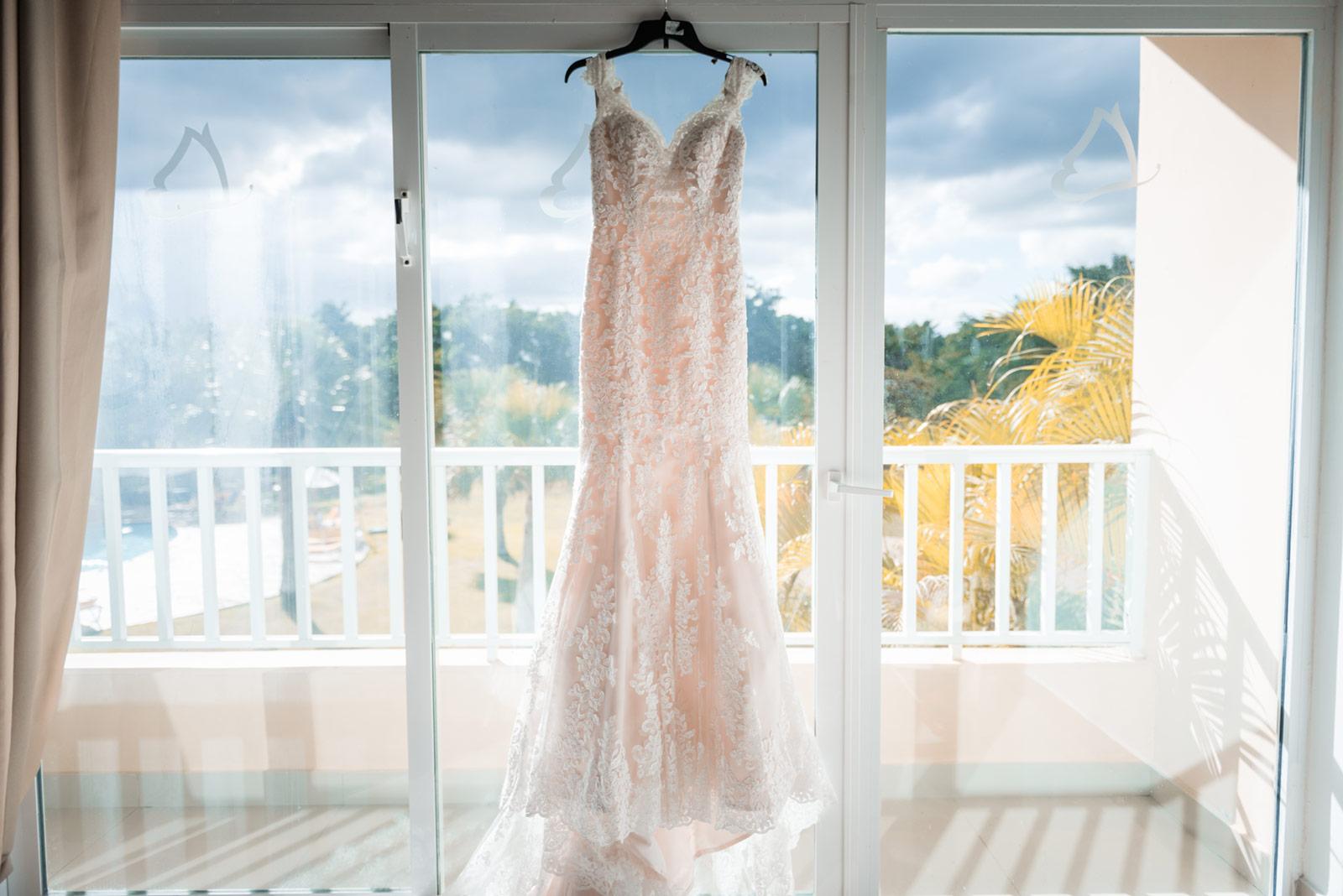 Foto de vestido de novia en República Dominicana