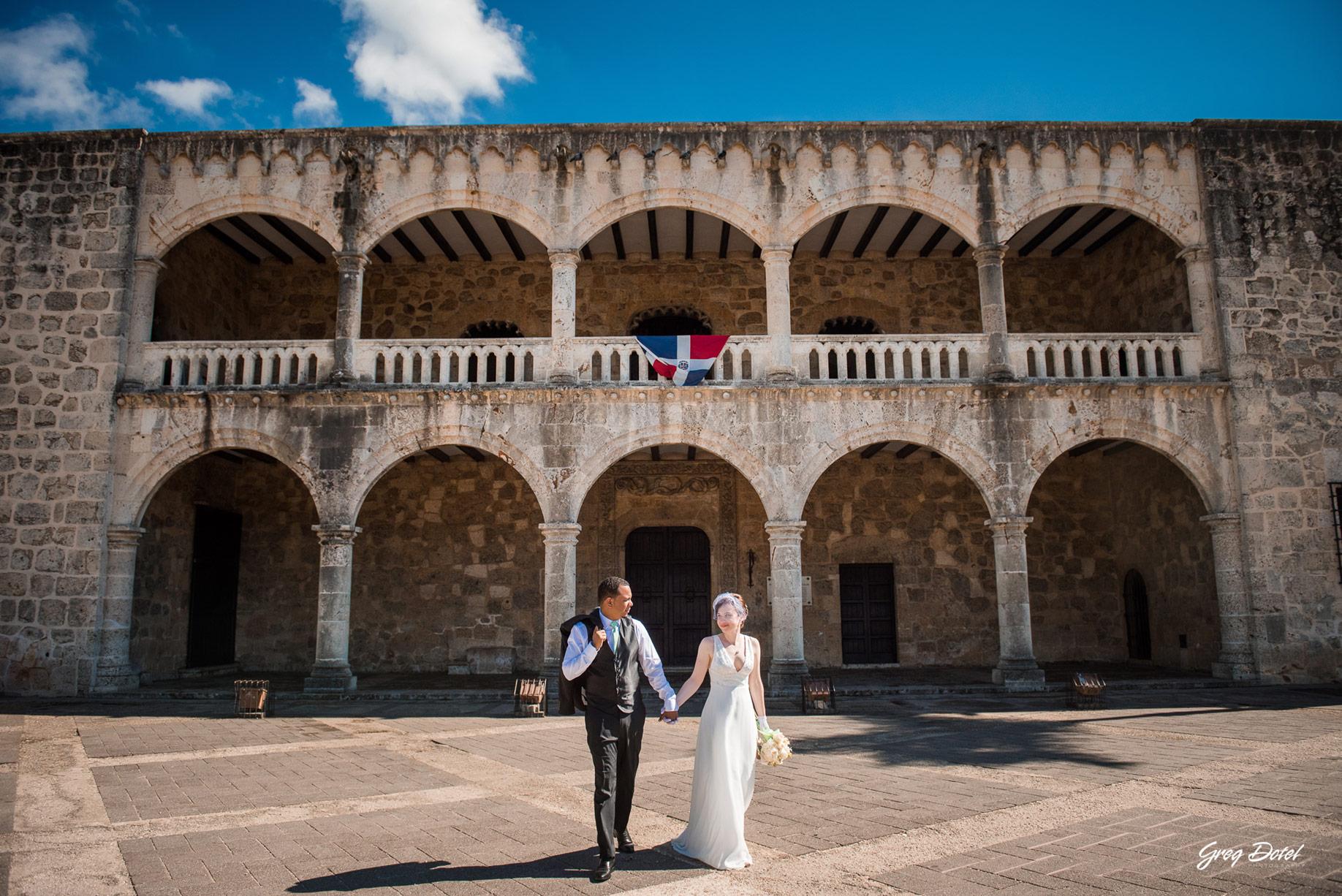 Sesion de fotos en el Alcazar de Colon de Santo Domingo, República Dominicana