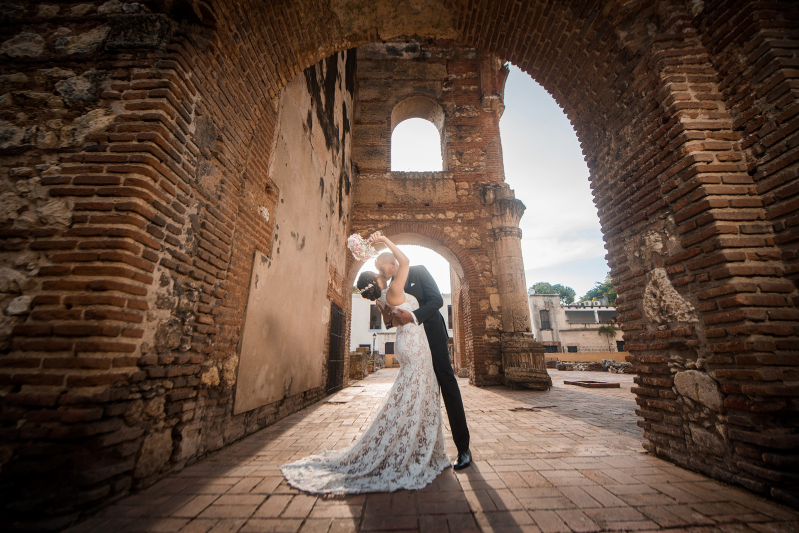 Sesion de fotos en la Ruinas San Nicolas de Bari, Zona Colonial de Santo Domingo, República Dominicana