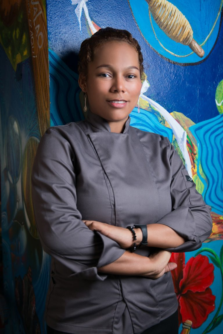 Retratos corporativos a la chef Noemi en el restaurante Jalao de la Zona Colonial de Santo Domingo Republica Dominicana