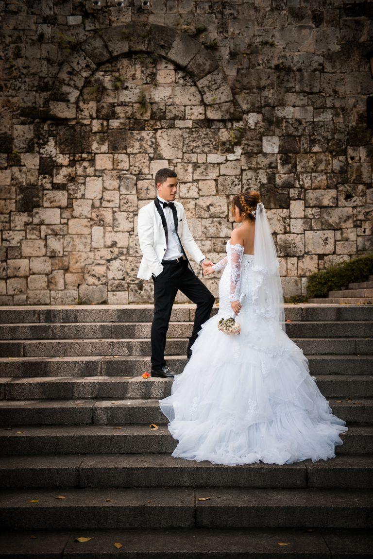 Sesion de novios o pre boda de Chari y Felix en la Zona Colonial de Santo Domingo Republica Dominicana