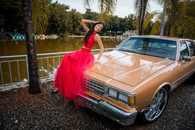 Sesión de fotos de 15 años de Luisanna en el Parque Mirador Sur de Santo Domingo, República Dominicana