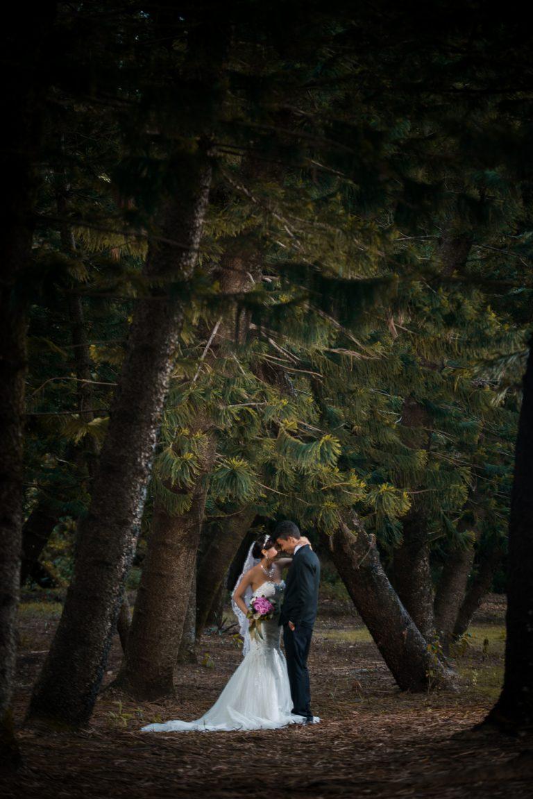 Sesión de fotos de compromiso de Laura y Albert en el Jardín Botánico de Santo Domingo, República Dominicana